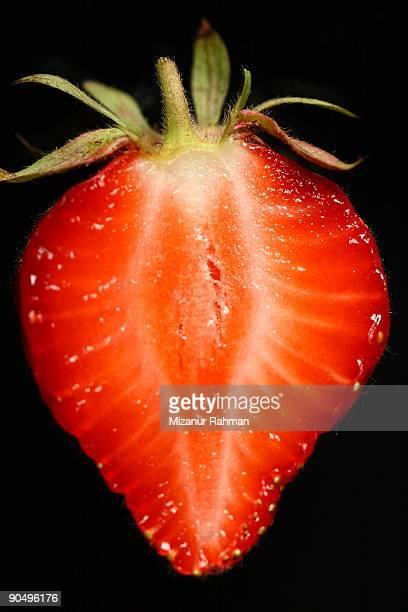 cut strawberry - mizanur rahman stock pictures, royalty-free photos & images