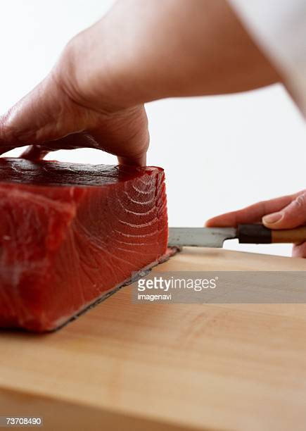 Cut up whole tuna