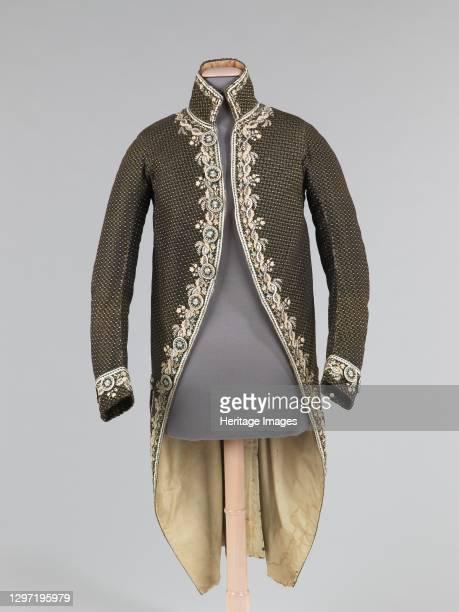 Cutaway coat, French, 1780-90. Artist Unknown.