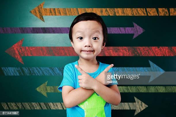 Niedlichen Asien Kinder in das Klassenzimmer