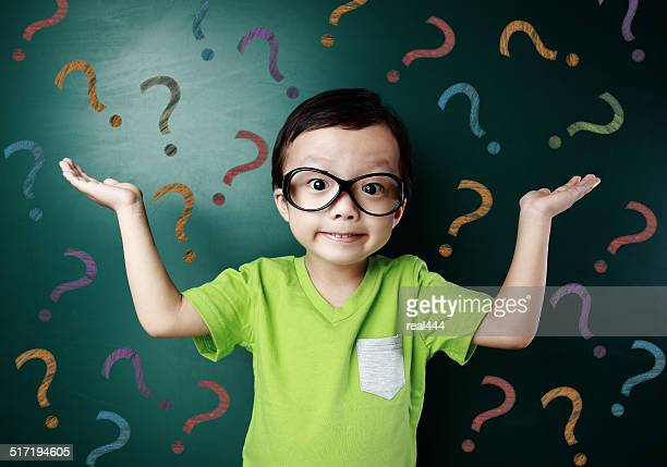cute asia children in the classroom - questions stock pictures, royalty-free photos & images