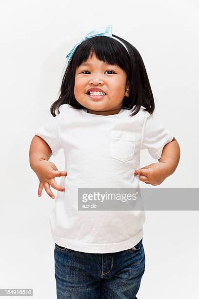 cute asian girl - baby pointing stock photos and pictures