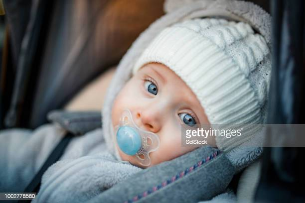 cute baby boy - pacifier stock pictures, royalty-free photos & images