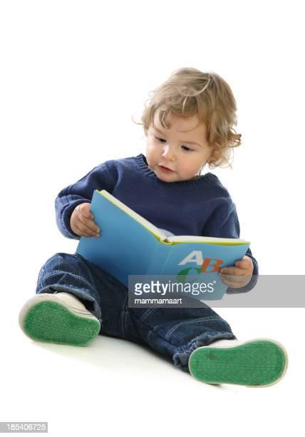 Cute baby Boy with an ABC Book