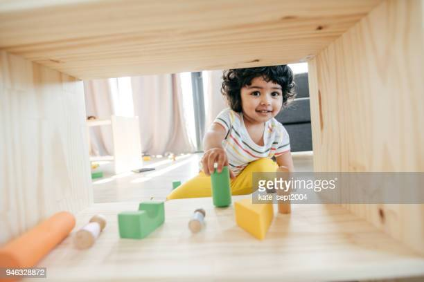 cute baby face - indian baby stock photos and pictures