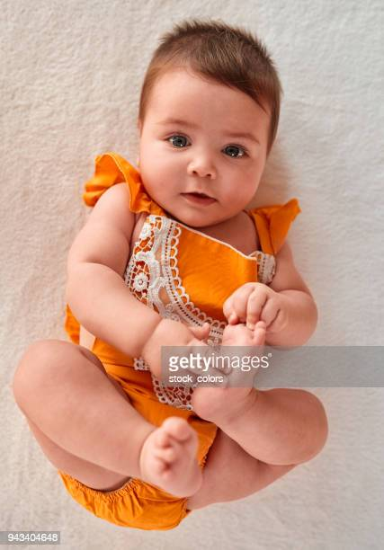 cute baby girl - baby girls stock pictures, royalty-free photos & images