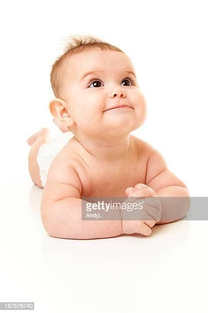 Mignon bébé isolé sur blanc