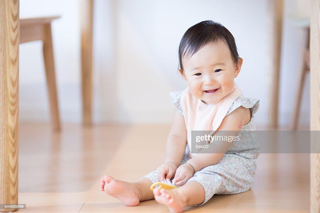 Cute baby.Japanese Asian : Stock Photo