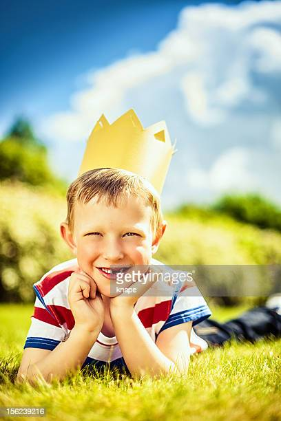 Cute boy in kings crown