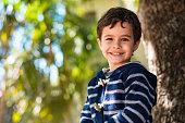 Cute boy outdoors