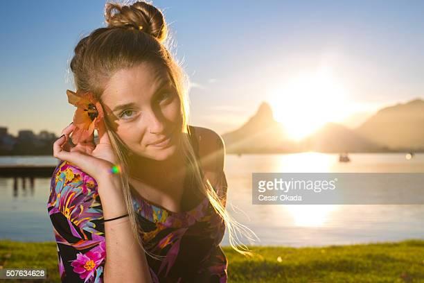 Engraçado Menina Brasileiro