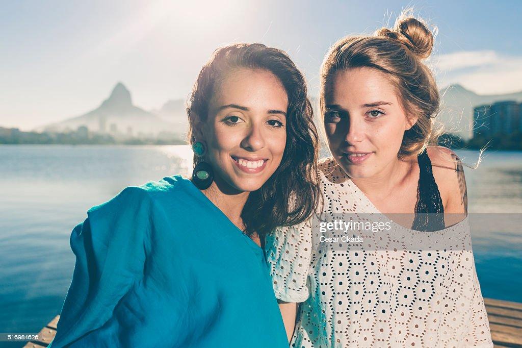 Niedlich Brasilianische Mädchen : Stock-Foto