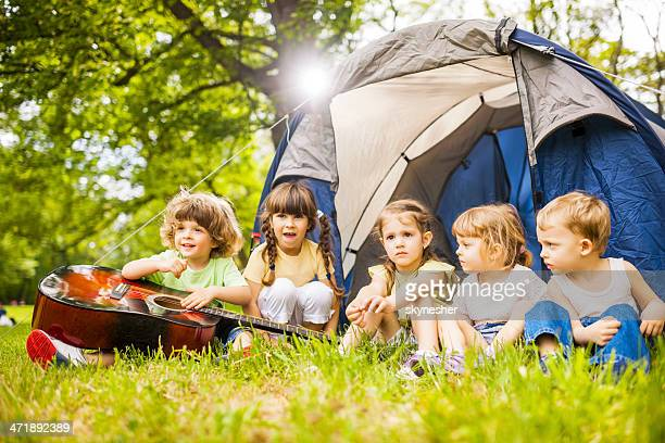 Cute children enjoying in the park.