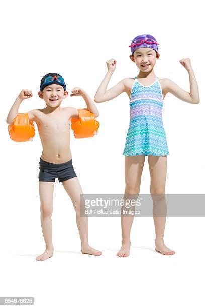 Cute children in swimsuit