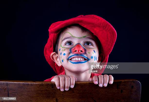 cute clown - happy clown faces stock photos and pictures