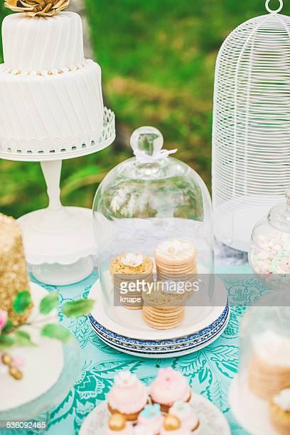 Cute cookies on dessert table