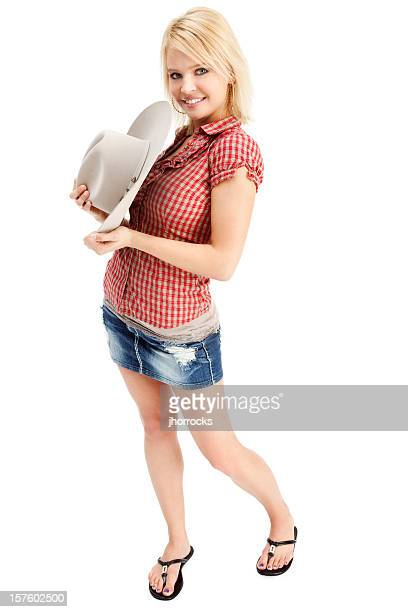 cute cowgirl - cowgirl hairstyles stock photos and pictures