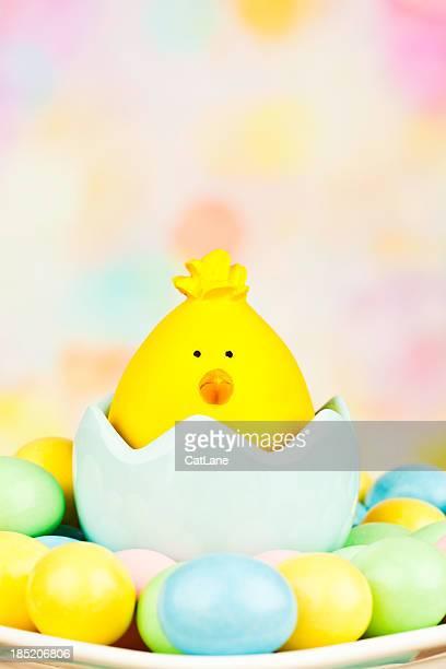 Süße Ostern Chick mit Eiern