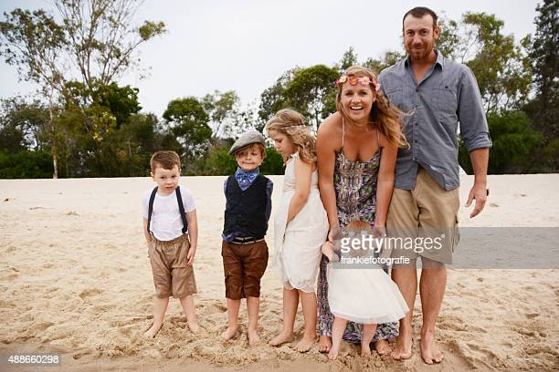 Cute family laughing