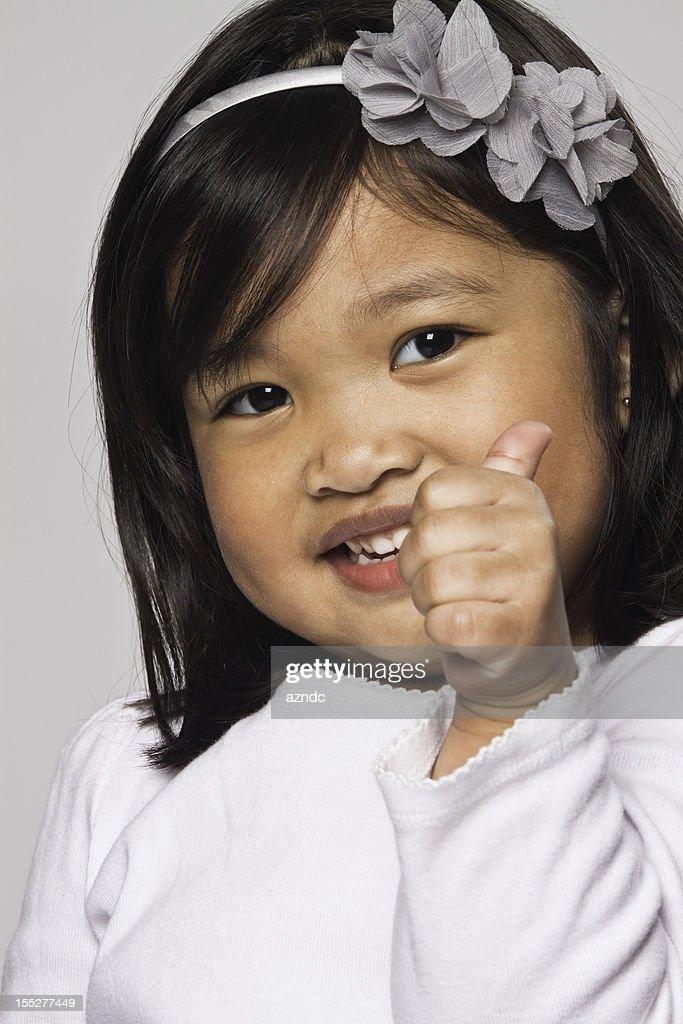 Filipino girl thumbs