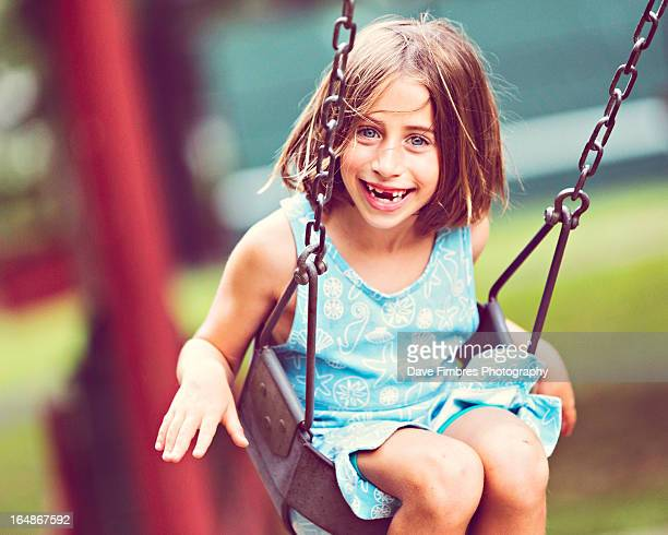 cute girl on a swing - mclean virginia stock pictures, royalty-free photos & images