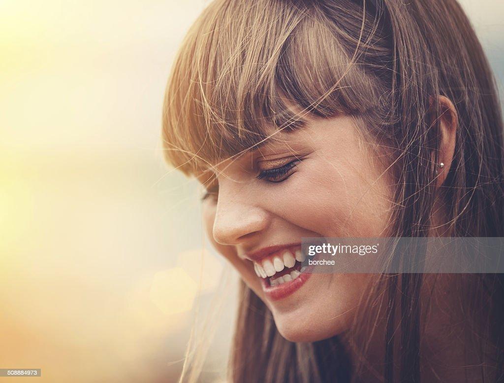 Cute Girl Smiling : Stock Photo