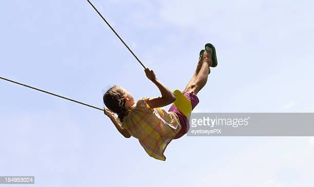 Cute Girl Swinging High