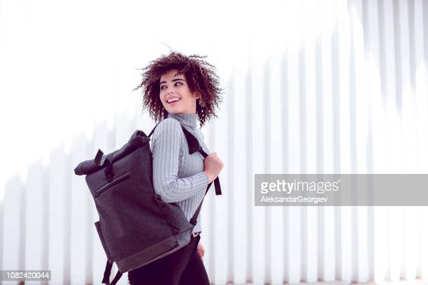 Cute Girl With Afro Hairstyle