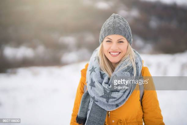 cute, girlish winter style - womenswear stock pictures, royalty-free photos & images