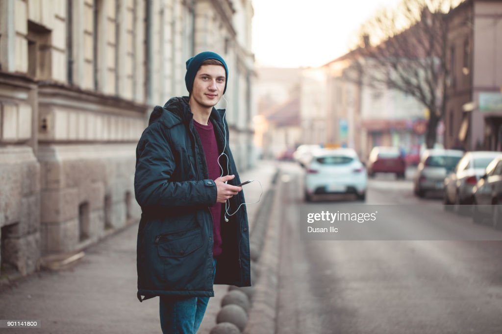 Cute guy in the street