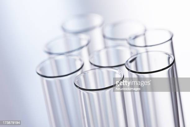 Cute image of test tube over white background