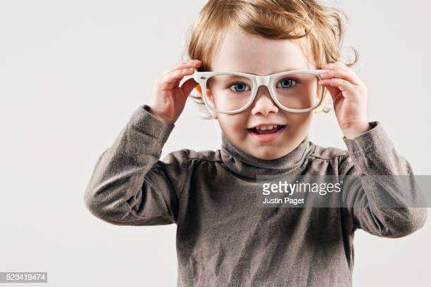 Cute Infant in Glasses