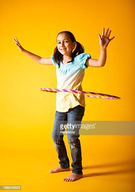 Cute Kid With A Hula Hoop
