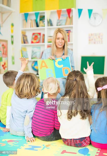 Cute kids in kindergarden.