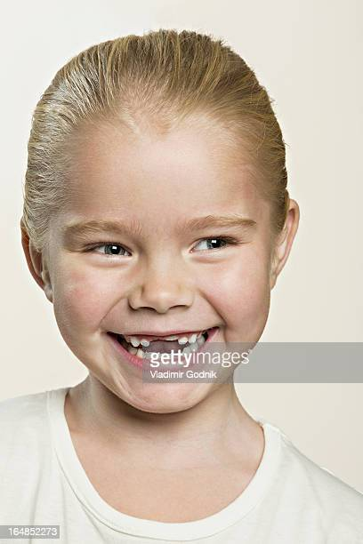 A cute laughing young girl
