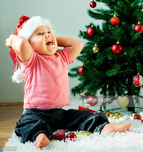 Cute Little Baby Christmas Time