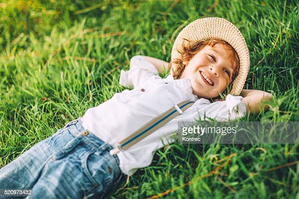 Cute little boy on sunny day outdoors