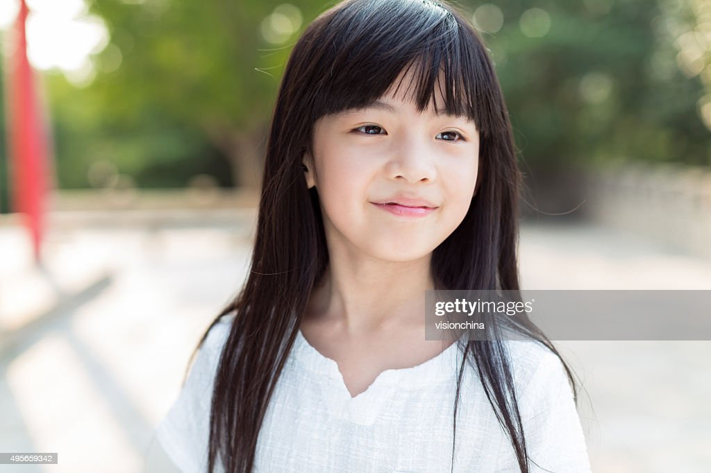 Cute Little Chinese Girl Stock Photo