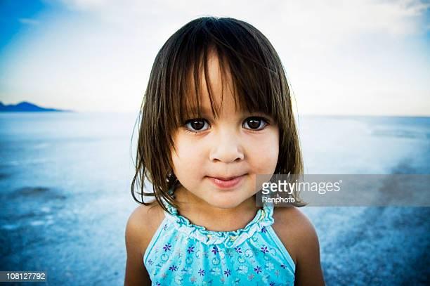 Cute little girl at the Salt Flats