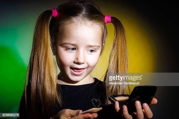 Cute little girl emotive portrait