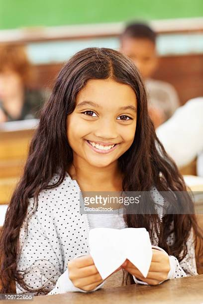 Cute little girl in the classroom