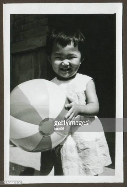 cute little girl monochrome old photo - up the skirt pics stock pictures, royalty-free photos & images