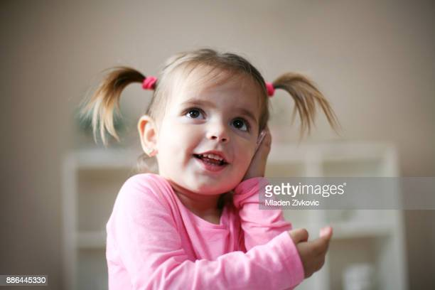 cute little girl. - digital native stock pictures, royalty-free photos & images