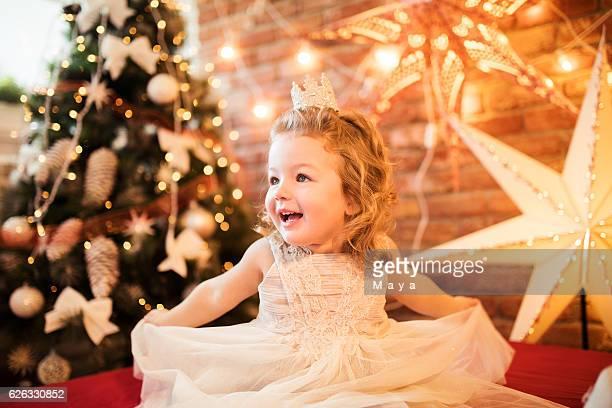 Cute little girl ready for Christmas