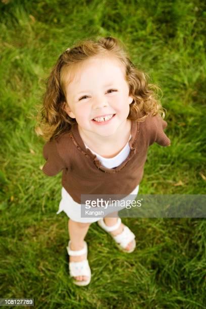 かわいい少女の笑顔