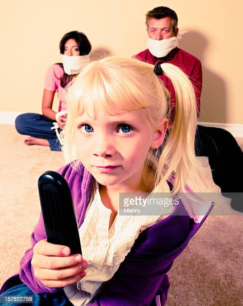 cute little girl tv dictator - dictator stock pictures, royalty-free photos & images