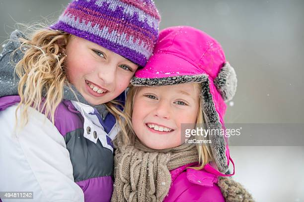 Cute Little Girls Smiling Together