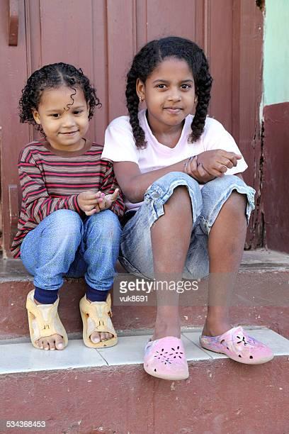 Cute little sisters