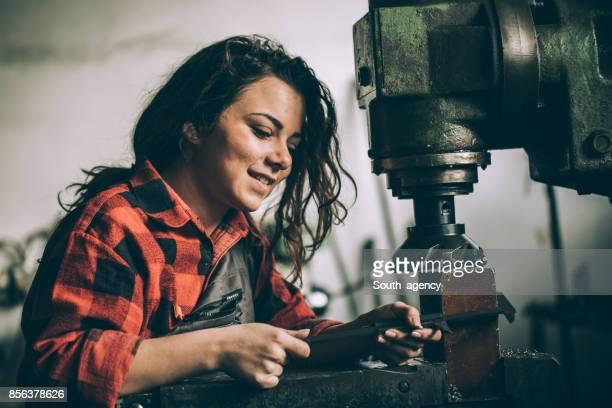 Cute mechanic girl