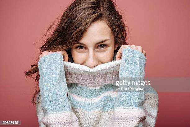 Cute model and turtleneck